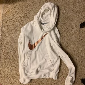 White and rose gold women's Nike hoodie size XS